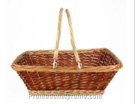 Handle made willow/wicker baskets
