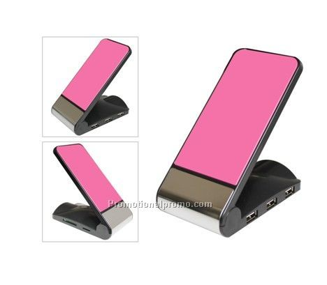 Popular Cell Phone Charger with Phone Holder, Reader and Three USB Hub