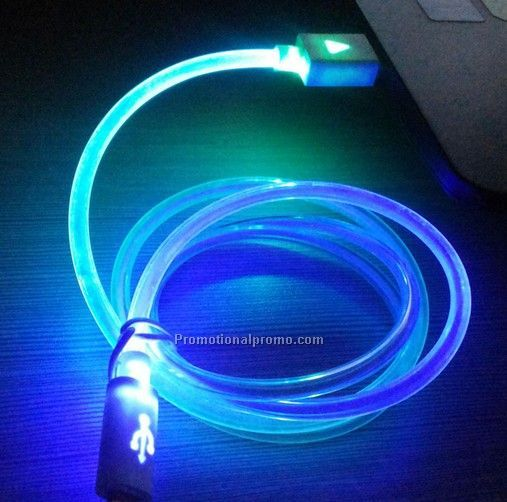 Compatible glow  led USB cable