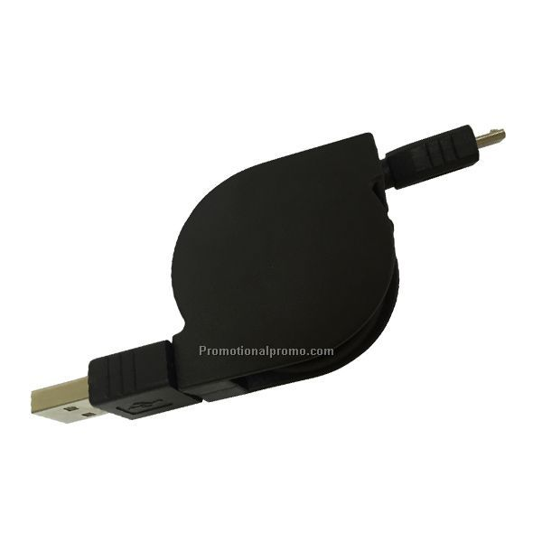 Promotional Plastic 2A Current USB Retractable Cable for Samsung