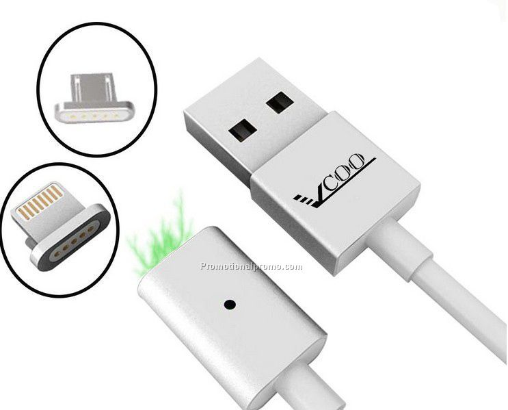 2 In 1 100cm Micro USB Cable For iPhone Super Magnet Charging USB Cables For All Android Cellphones