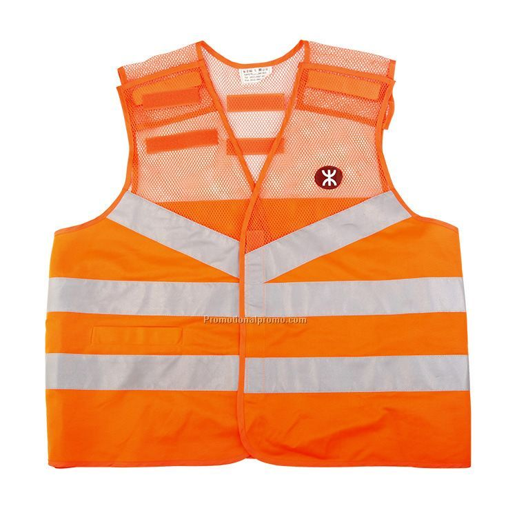 New orange safety vest
