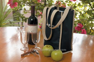 Insulated Wine Bottle Tote Bag - Printed