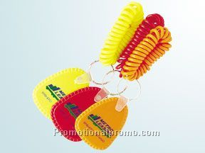 Neon spiral bracelet and flex key tag