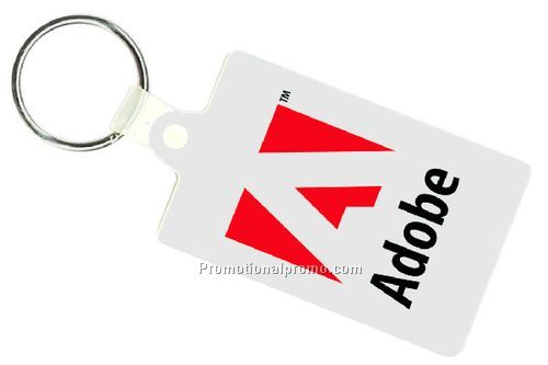 SOFT VINYL RECTANGULAR KEY TAG