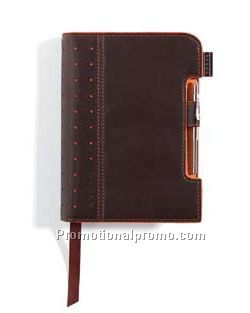 Small Cross Signature Journal Brown/Orange