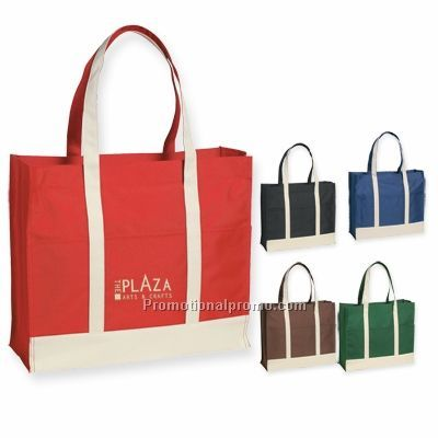 TWO - TONE TOTE BAG
