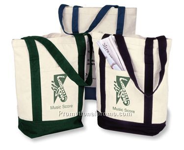 Two Tone Tote - green