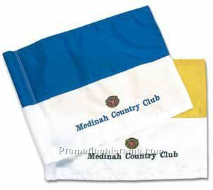 Two-Tone Tube Flag - Embroidered*