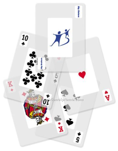 TRANSPARENT playing cards - Poker size