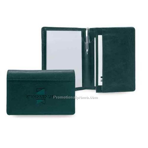 Leather jotter & card wallet