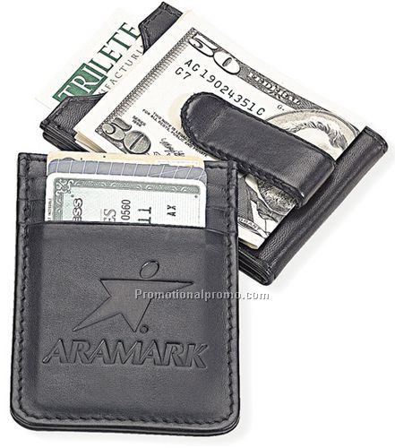 credit card holder money clip. money clip with card holder.