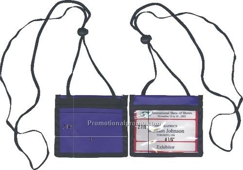 Nylon convention ID badge holder pouch