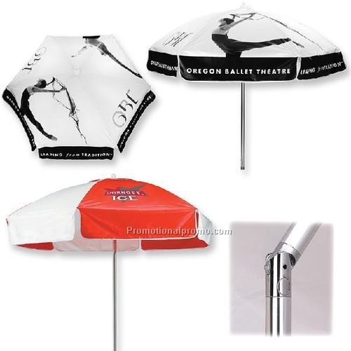 Aluminum Cocoa Brown 9-foot Outdoor Market Umbrella with Crank and