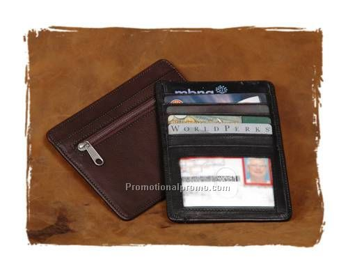 Silver Canyon Compact Wallet with Zipper
