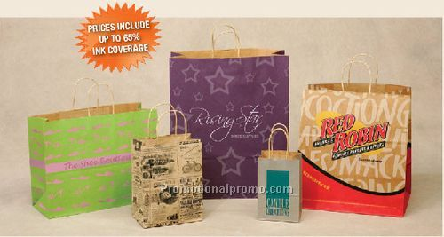 Brown Kraft Paper Bags, Customized paper bag