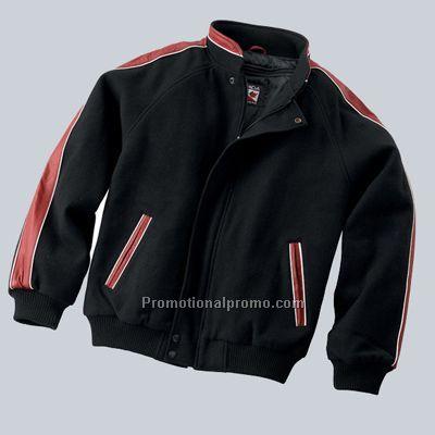 Melton leather jacket