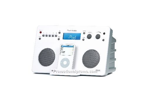 iYiYi High Fidelity iPod AM/FM Stereo System - White