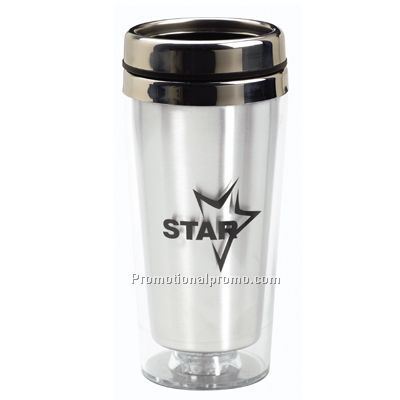 Translucent Tumbler With Stainless Steel Lid 16 oz