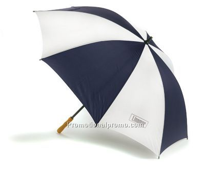 2-Tone Lightweight Umbrella - Blue/White/Unprinted
