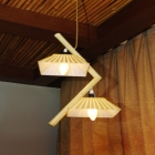 Two-piece beautiful bamboo lamp