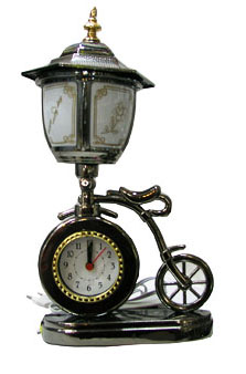 Bike lamp clock