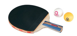 table tennis and racket