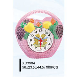 Flower-basket craft clock
