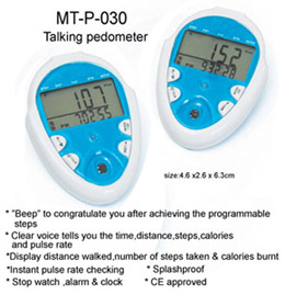Talking Pedometer with Pulse Rate Measruement