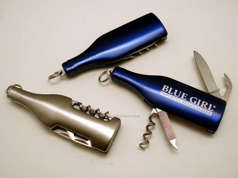 Bottle shape knife keychain