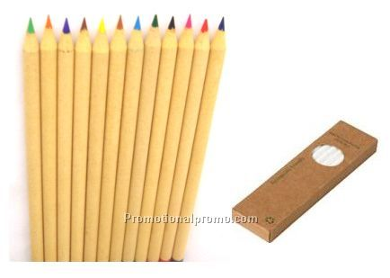 Recycled color pencil set
