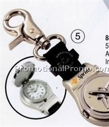 Airplane Key Fob Pocket Watch w/ Compass