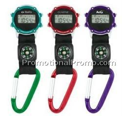 Clip-On Stopwatch w/ Compass