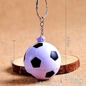Promotional Gift PU Soccer ball Keychain Photo 2