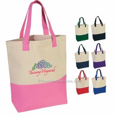 HEAVY COTTON CANVAS TWO - TONE TOTE