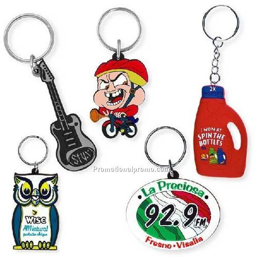 Custom soft PVC Key Tags - 1 1/2