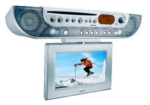 Under Counter Kitchen DVD/CD/LCD Clock Radio