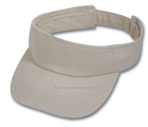 Cotton twill garment washed visor