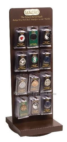 GOLFPRO VISOR CLIP & BALL MARKER DISPLAY
