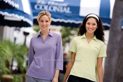 Ladies' Satin Trim Polo