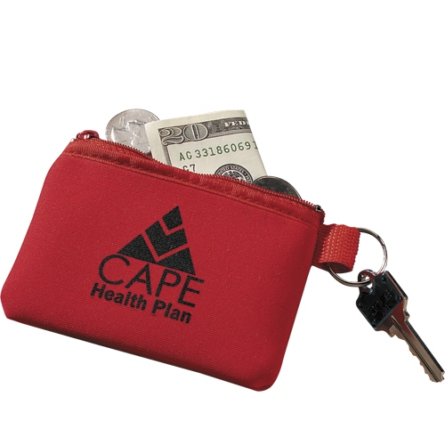 Zip pouch key holders