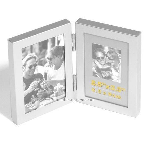 frame hinged metal dual frame 25 - Dual Picture Frame