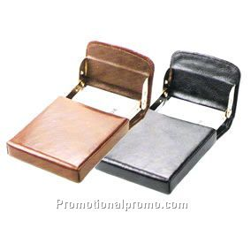 leather metal business card holder - Metal Business Card Case