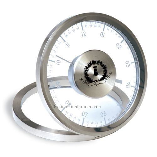 Metropolis Metal Table Clock