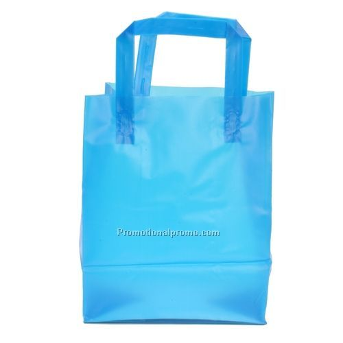 Plastic Bags - Frosted Tri-Fold Handle Shopping Bags, 8