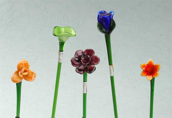 Glass flower china wholesale gwg23741 for Flowers made of glass