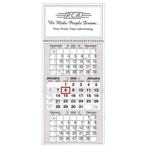 calendar 3 month planner china wholesale wcc50058