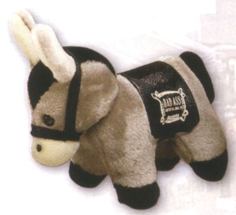 Cuddly Donkey with Saddle Blanket