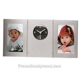 Pen holder photo frame and clock