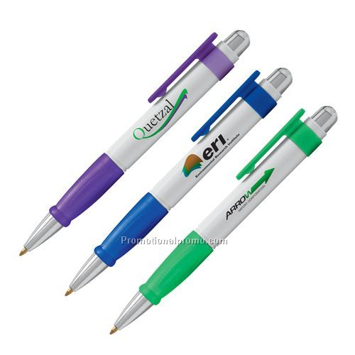 Pen - Bic Solis, Plunger Action Retractable Ballpoint Pen with Triangle Grip